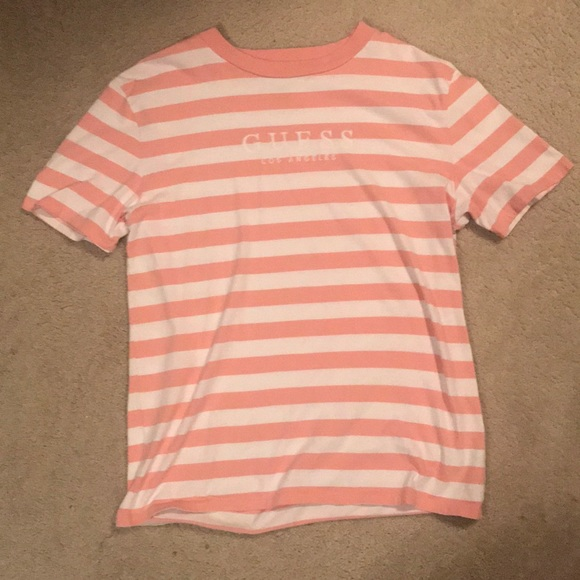 e5433d845a4b Guess Shirts | Palm Striped Oversized T Shirt | Poshmark